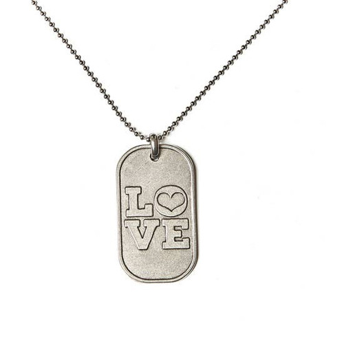 Love Dog Tag Necklace