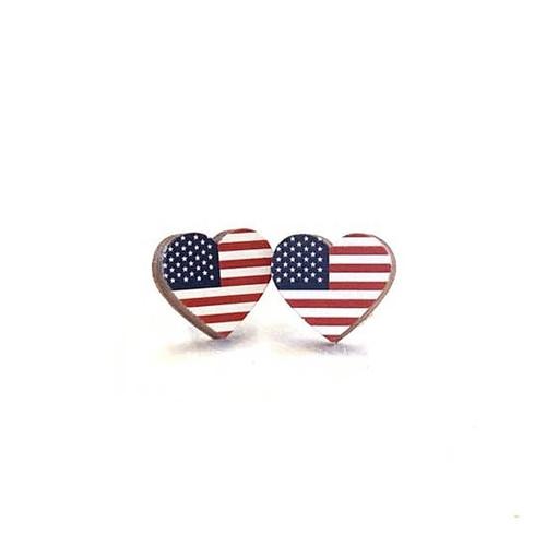 Heart Flag Earring