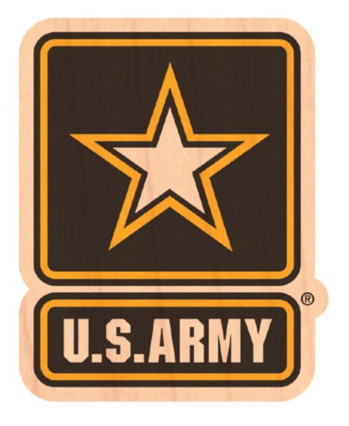US Army wooden sticker