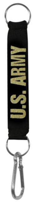 US Army neoprene carabiner key ring