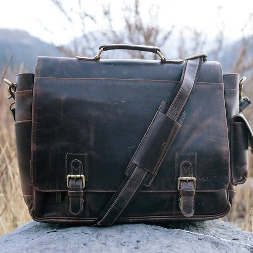 Sitka Leather Messenger Bag