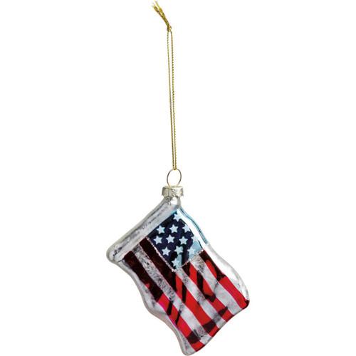 Glass Ornament-Flag