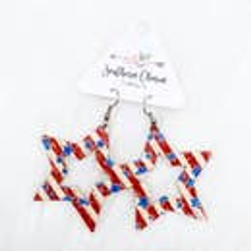 "2.5"" Vintage Stars & Stripes Earrings"