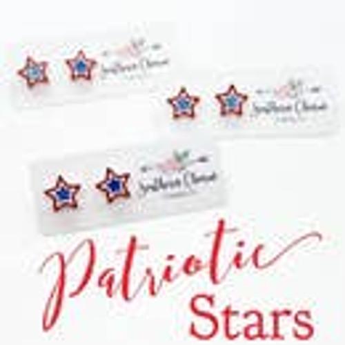 Patriotic Stars stud earrings