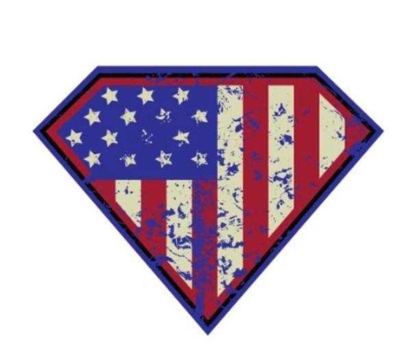 Gruntstlye Super Patriot Sticker