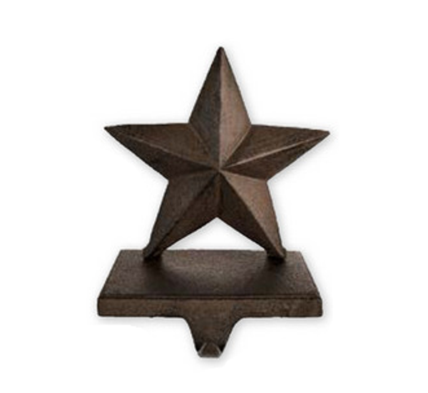 Iron star stocking/wreath hanger