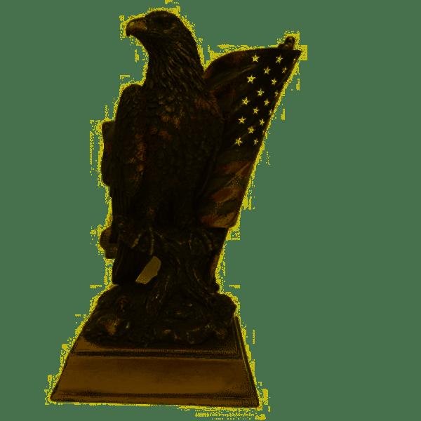 American Pride Eagle Statuette With Flag