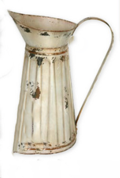 Dark Cream Tin Watering Pitcher