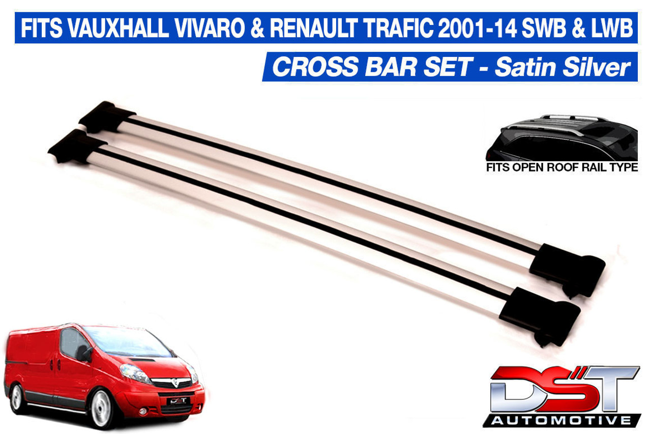 ALUMINIUM AERO ROOF BARS for VAUXHALL VIVARO 10-ON