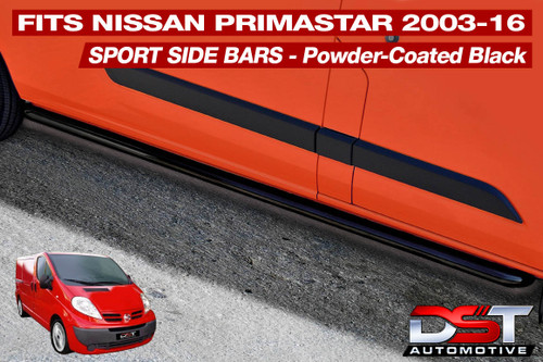 Nissan Primastar Side Bars 2003-16 Short Wheel Base (SWB) and Long Wheel Base (LWB)