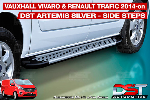 Vivaro & Trafic Side Steps DST Artemis Silver Steps 2014-on LWB