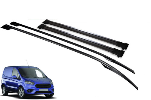 Ford Courier 2014 Alu Roof Bars 2 Pcs Silver Elegance Tuv