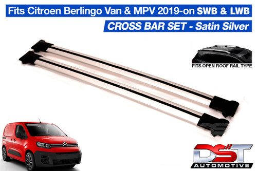 Citroen Berlingo Cross Bars Set for Roof Rack Rails - Silver 2019-on