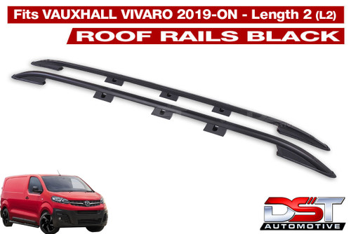 Vauxhall Vivaro Roof Rack Rails - Black 2019-on Length 2 (L2)