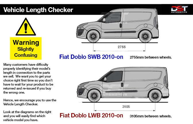 Fiat Doblo wheelbase checker 2010-on