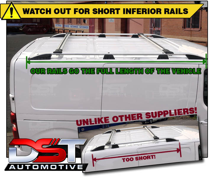 Don't buy inferior rails from other suppliers which are too short!