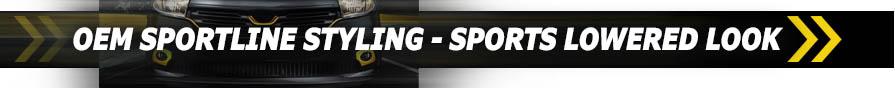 OEM Sportline Styling - Sports Lowered Look