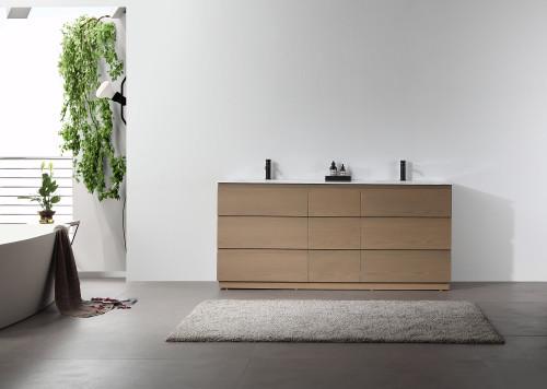"""Armoni Oak 72"""" Freestanding Vanity W/ Double Sink"""