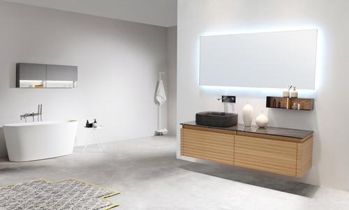 """Atelier Maple 60"""" Wall Mount Vanity W/ Single Left Sink"""