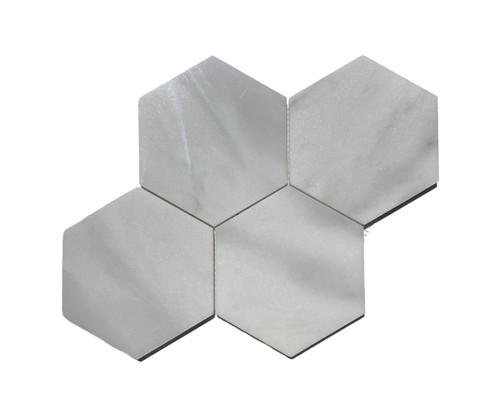 "MOS1025 Ice Onyx Polished Marble 6"" Mosaic Hexagon"