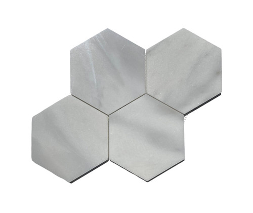 "MOS1025 Ice Onyx Polished Marble 6"" Mosaic Hexagon"