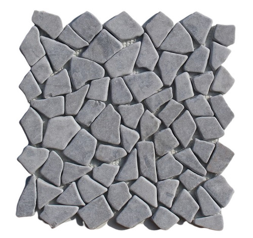 PEB143 Storm Grey Large Pebble Natural 12x12 Sheet
