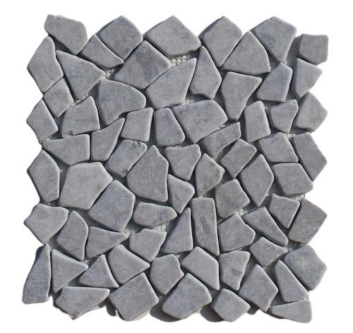 PEB143 Storm Grey Large Pebble Natural 12x12 Sheet