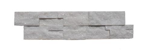 MAR736 6x24 Crystal White Ledger Marble