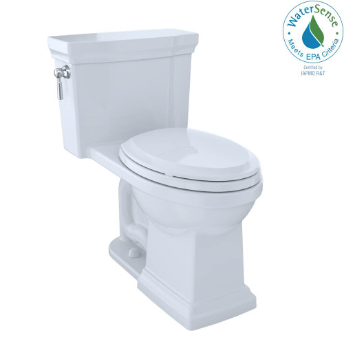 TOTO Promenade II One-Piece Elongated 1.28 GPF Universal Height Toilet With CEFIONTECT, Cotton White