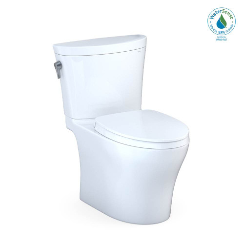 TOTO Aquia IV ARC 2 PC UH Left H TL SS124 Seat, 1.28 and 0.8 GPF, Cotton White