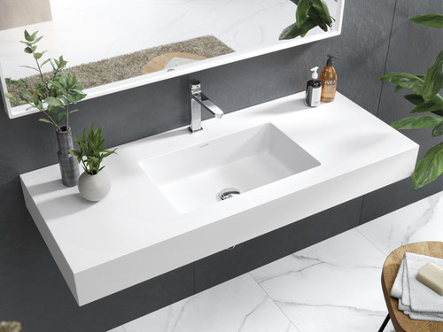 "40"" Wall Mounted Sink Snow White"