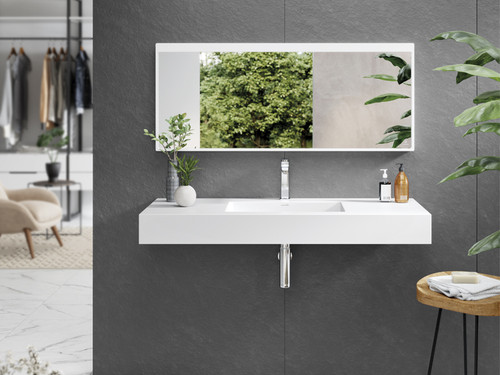 "55"" Wall Mounted Sink Snow White"