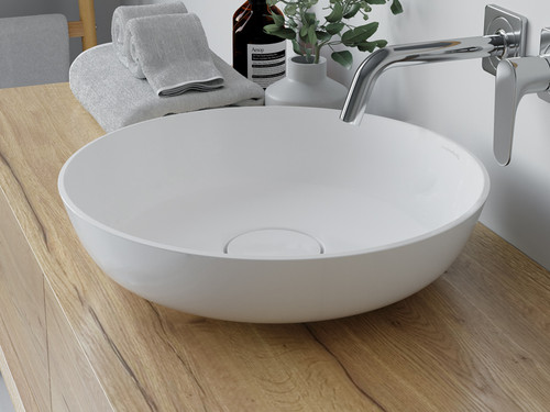 "Vessel Sink Circle White 16"" Round"