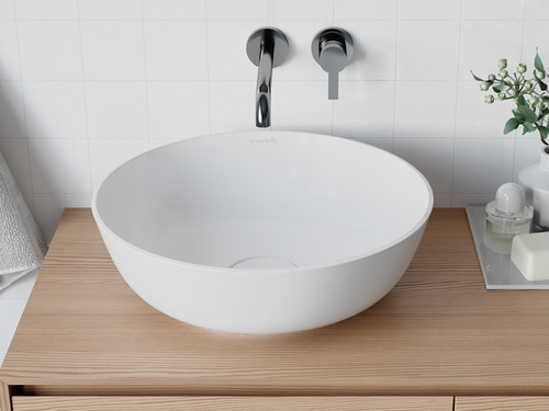 "Vessel Sink Circle XL White 16"" Round"