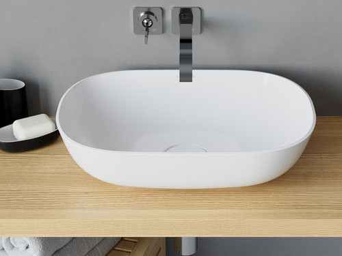 "Vessel Sink Rectangle XL White 14""x20"""