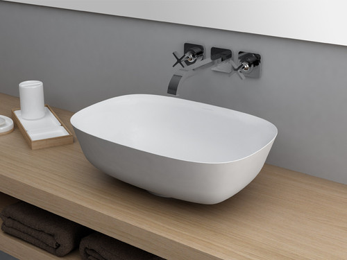 Vessel Sink, White Rectangle Sink