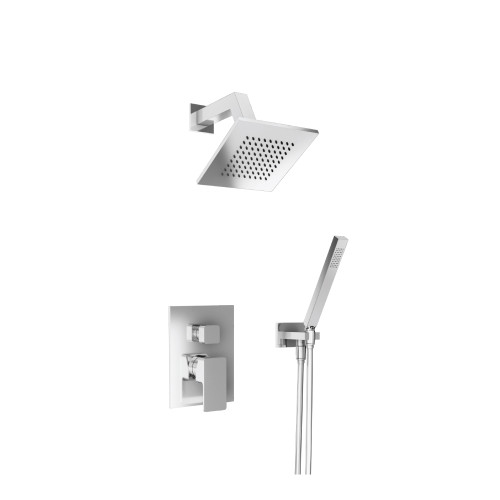 196.3250CP Shower Set – 6″ Shower Head & Hand Held- Pressure Balance Valve & Trim