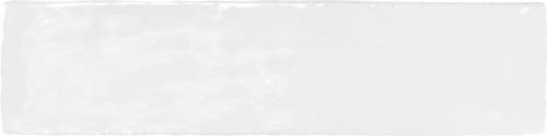 Metallica White Handcrafted & Glazed 2x8