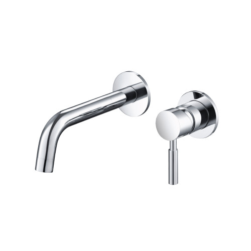 Single Handle Wall Mounted Bathroom Faucet Polished Chrome 100.1800CP