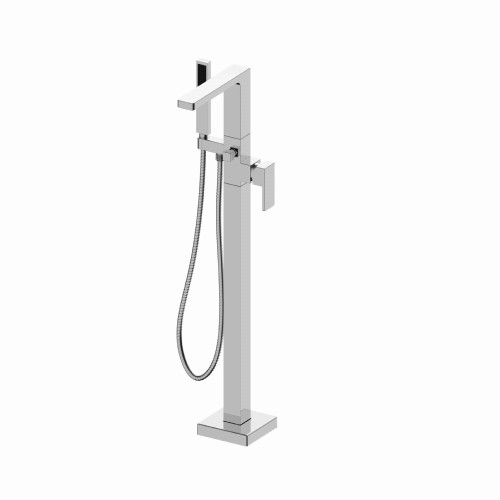 Freestanding Floor Mount Tub Filler With Hand Shower Polished Chrome 196.1165CP