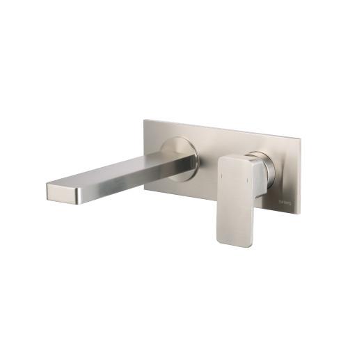 Single Handle Wall Mounted Bathroom Faucet Brushed Nickel 196.1800BN