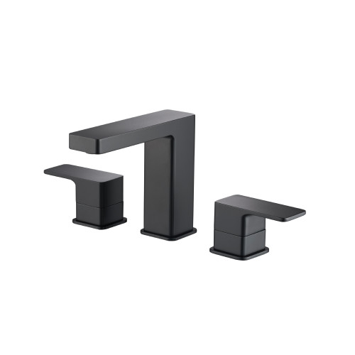 """Three Hole 8"""" Widespread Two Handle Bathroom Faucet Matte Black 196.2000MB"""