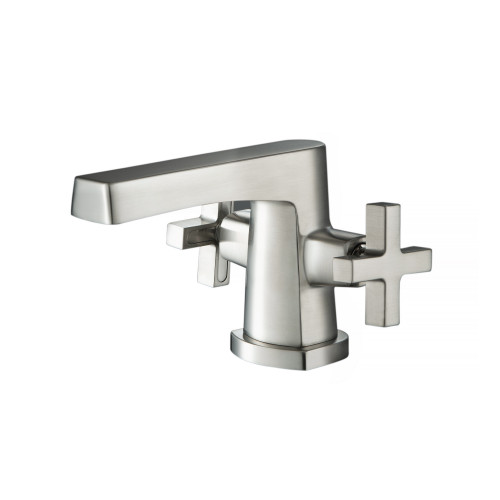 Single Hole Cross Handle Bathroom Faucet Brushed Nickel 240.1000BN
