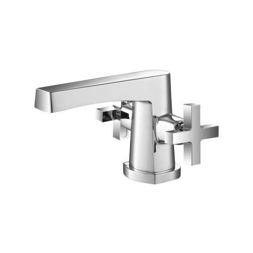 Single Hole Cross Handle Bathroom Faucet Chrome Polished 240.1000CP