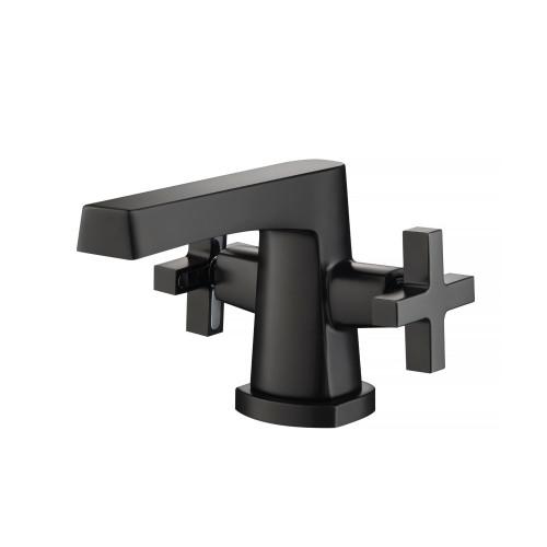 Single Hole Cross Handle Bathroom Faucet Matte Black 240.1000MB