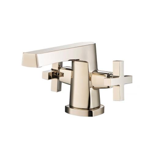 Single Hole Cross Handle Bathroom Faucet Polished Nickel 240.1000PN