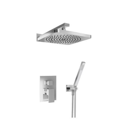 196.3300CP – Shower Set – 10″ Shower Head & Hand Held- Pressure Balance Valve & Trim Polished Chrome