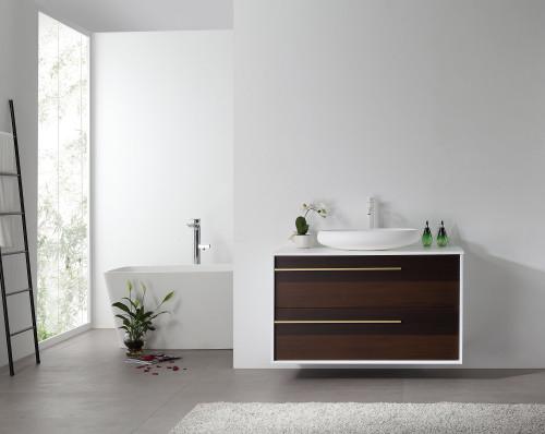 """Ellani Ebony 42"""" Wall Mount Vanity W/ Single Sink"""