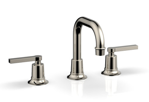 HEX MODERN Widespread Faucet Polished Nickel