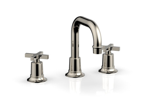 Phylrich HEX MODERN Widespread Faucet - Cross Handles 501-05-014 Polished Nickel